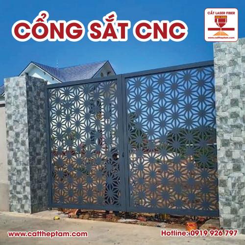 Gia công Cổng Sắt CNC 2 cánh 4 cánh sản xuất tại gốc giá rẻ cạnh tranh TPHCM