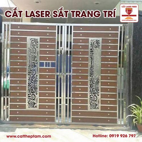 Cắt laser sắt trang trí